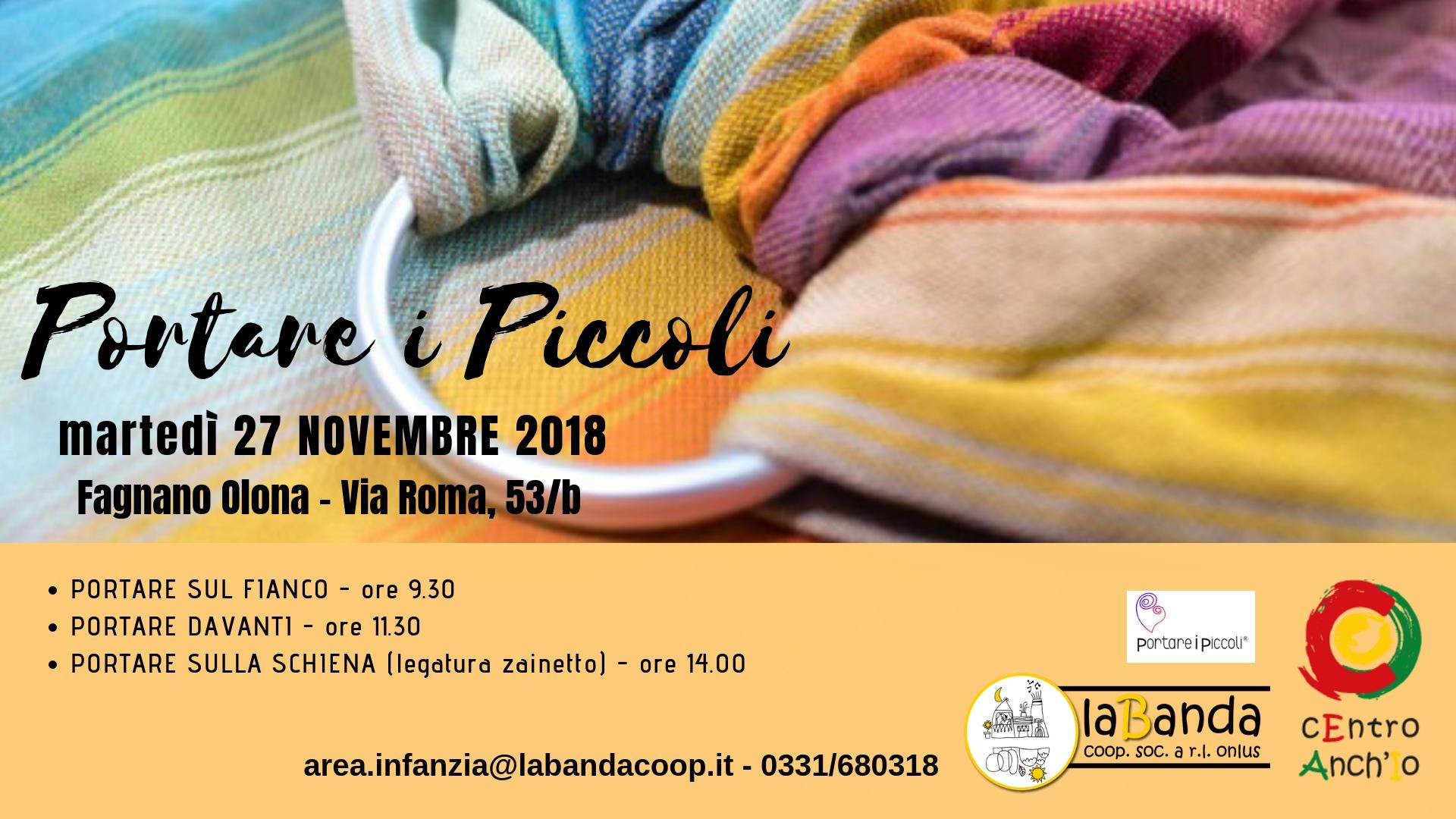 Martedì 27 Novembre – Giornata dedicata PORTARE I PICCOLI – presso cEntro Anch'Io
