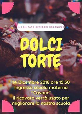 """Venerdì 14 Dicembre Torte fatte in casa alla Scuola Materna """"Cavour""""!"""