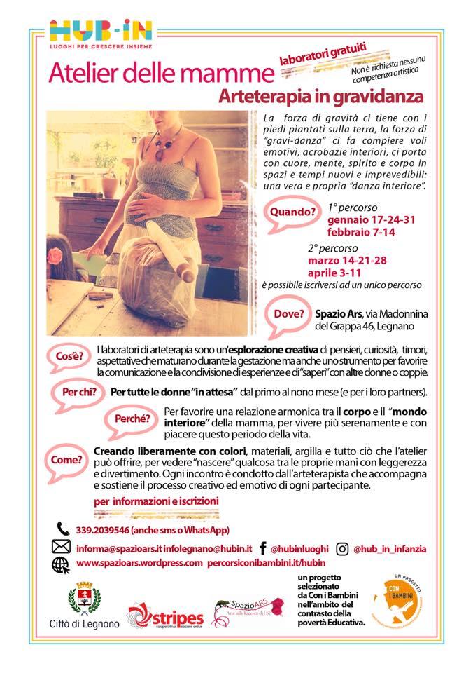 Atelier delle mamme – Arteterapia in Gravidanza – Laboratori Gratuiti Spazio Ars