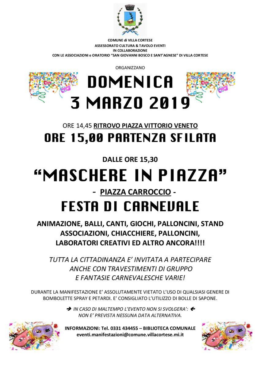 Weekend 2 e 3 Marzo speciale Carnevale, spettacoli e laboratori!!!