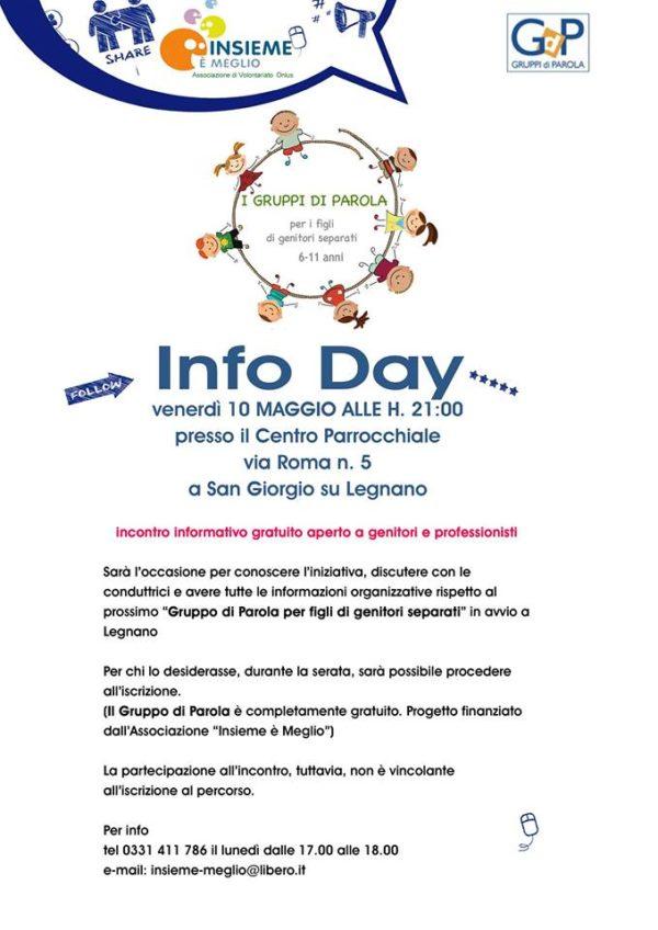 """Venerdì 10 Maggio presentazione: """"Gruppi di Parola"""" per figli di genitori separati."""