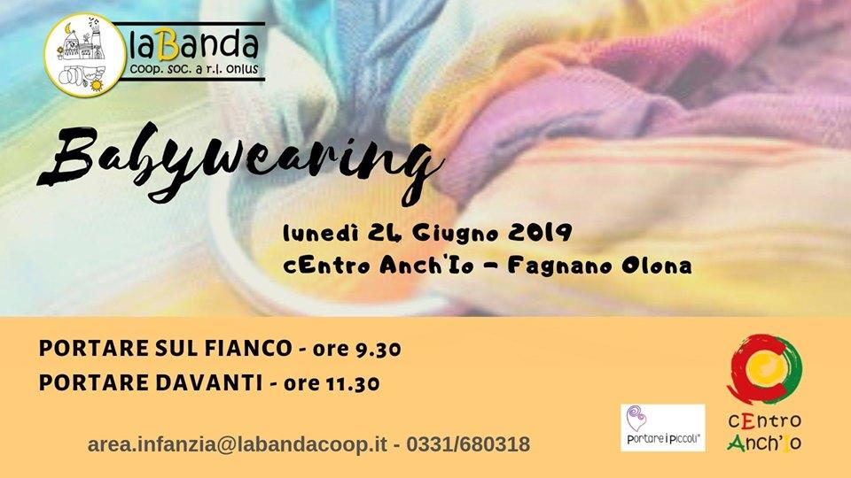 Lunedì 24 Giugno – Babywearing – C'Entro Anch'Io a Fagnano Olona