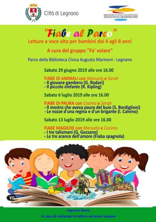 Sabato 29 Giugno Fiabe al Parco… presso il Parco della Biblioteca Marinoni di Legnano