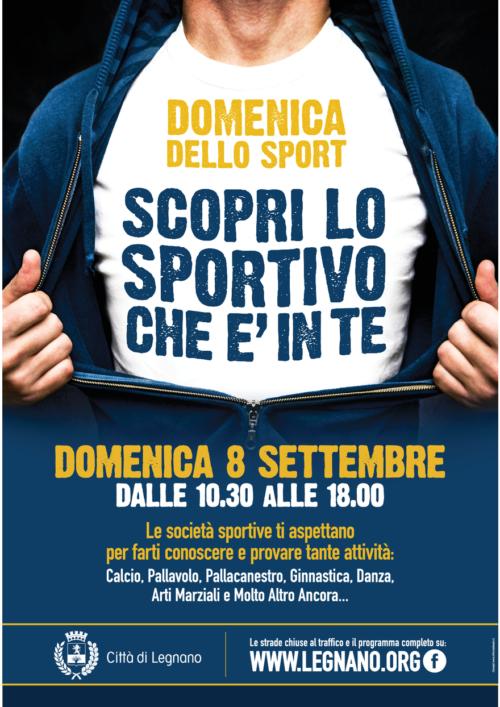 """Domenica 8 Settembre Festa dello sport, festa del gnocco fritto, Biciclettata e Lo SBARACCO""""…tutto a Legnano."""