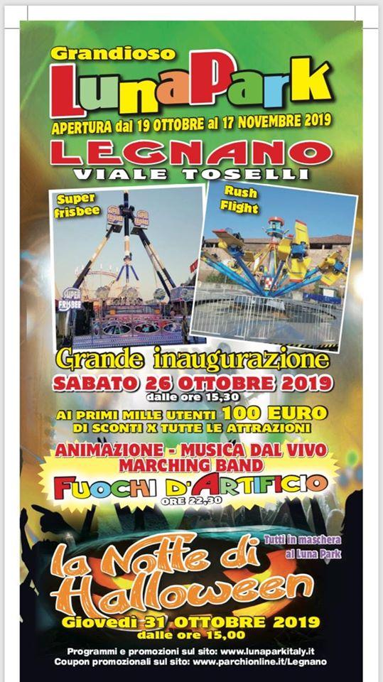 Stampa i tuoi Buoni sconto per le giostre del Luna Park di Legnano!!!