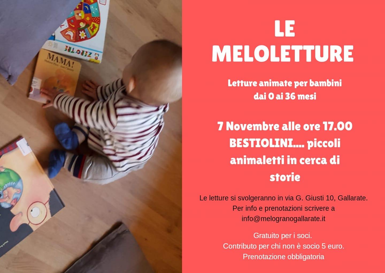 Giovedì 7 Novembre – MELOLETTURE: lettura animata per bimbi 0-3 anni- Il Melograno Gallarate