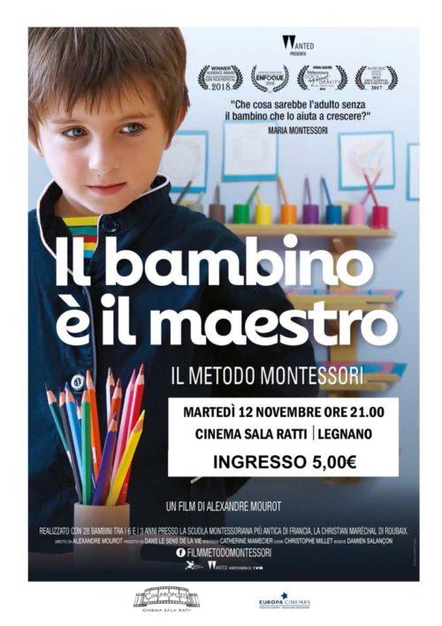 """Martedì 12 Novembre  """"Il bambino è il maestro"""" Il Metodo Montessori – Film Cinema Sala Ratti!!!"""