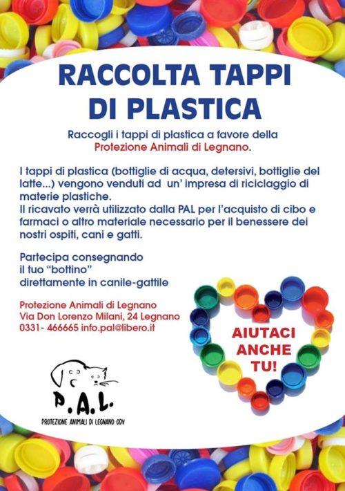 Raccolta TAPPI di Plastica per il PAL – Protezione Animali di Legnano!