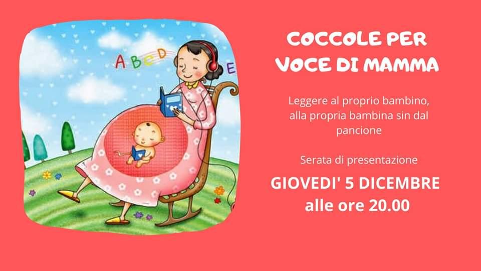 Giovedì 5 Dicembre – Serata di presentazione: Coccole per Voce di Mamma – IL MELOGRANO Gallarate