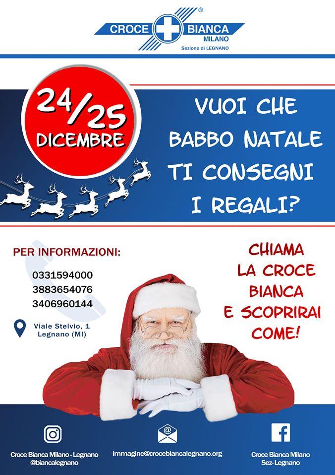 Babbo Natale arriva a casa tua per consegnare i doni!!! Iniziativa della Croce bianca sez. Legnano