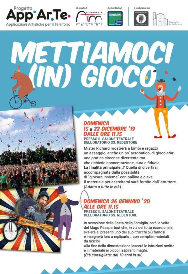 Domenica 22 Dicembre Laboratorio gratuito di giocoleria Mettiamoci (in) gioco con ScenAperta!!!