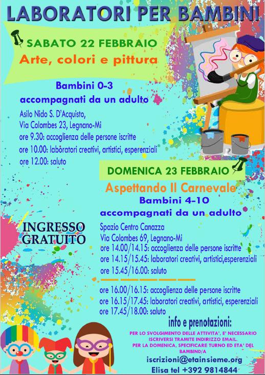 Sabato 22 e Domenica 23 Febbraio 2020 la rubrica Dai Andiamo.. è ricca di eventi per tutti … in più ecco lo speciale Carnevale!!!