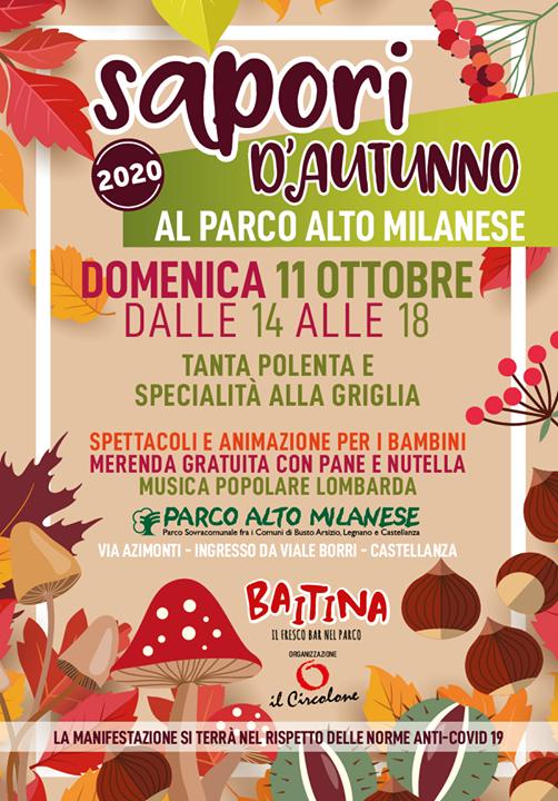 Domenica 11 Ottobre SAPORI D'AUTUNNO Parco Altomilanese