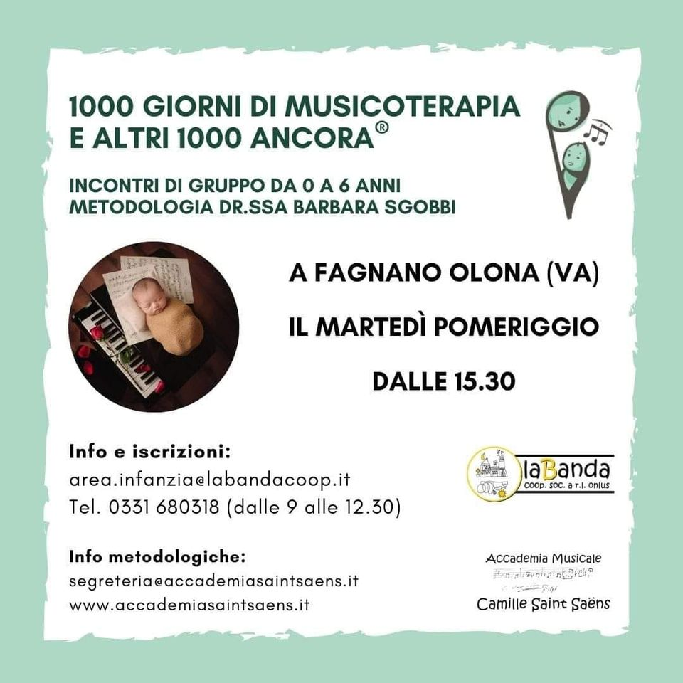 1000 giorni di MUSICOTERAPIA e altri 1000 ancora! – Incontri di Musicoteriapia a Fagnano Olona – laBanda Coop