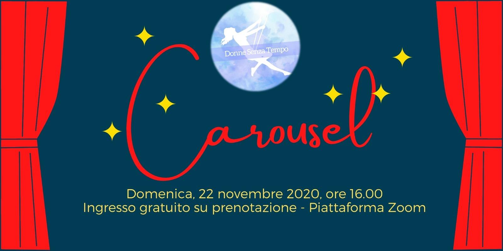 Sapete che il teatro può arrivare a casa vostra?! Domenica 22 Novembre non perdete Carousel!!