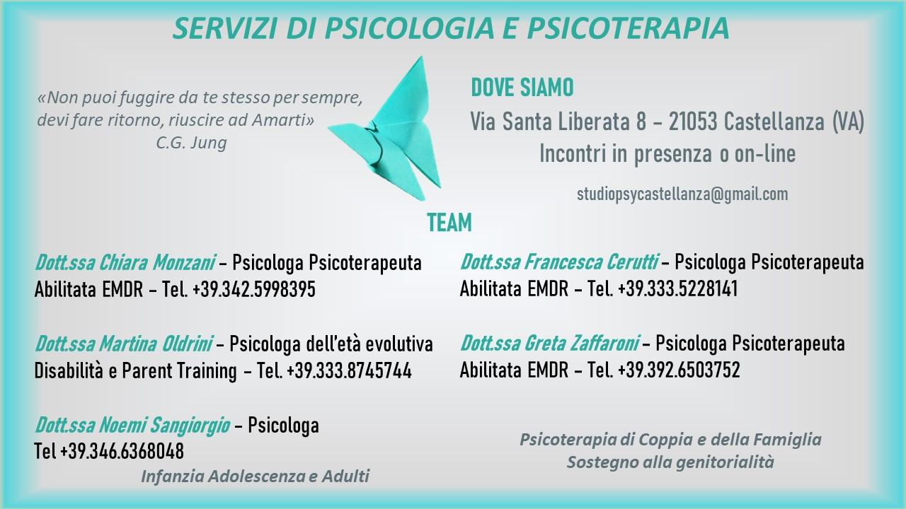 Servizi di Psicologia e Psicoterapia, in presenza e online – Un eccellente team di professioniste!