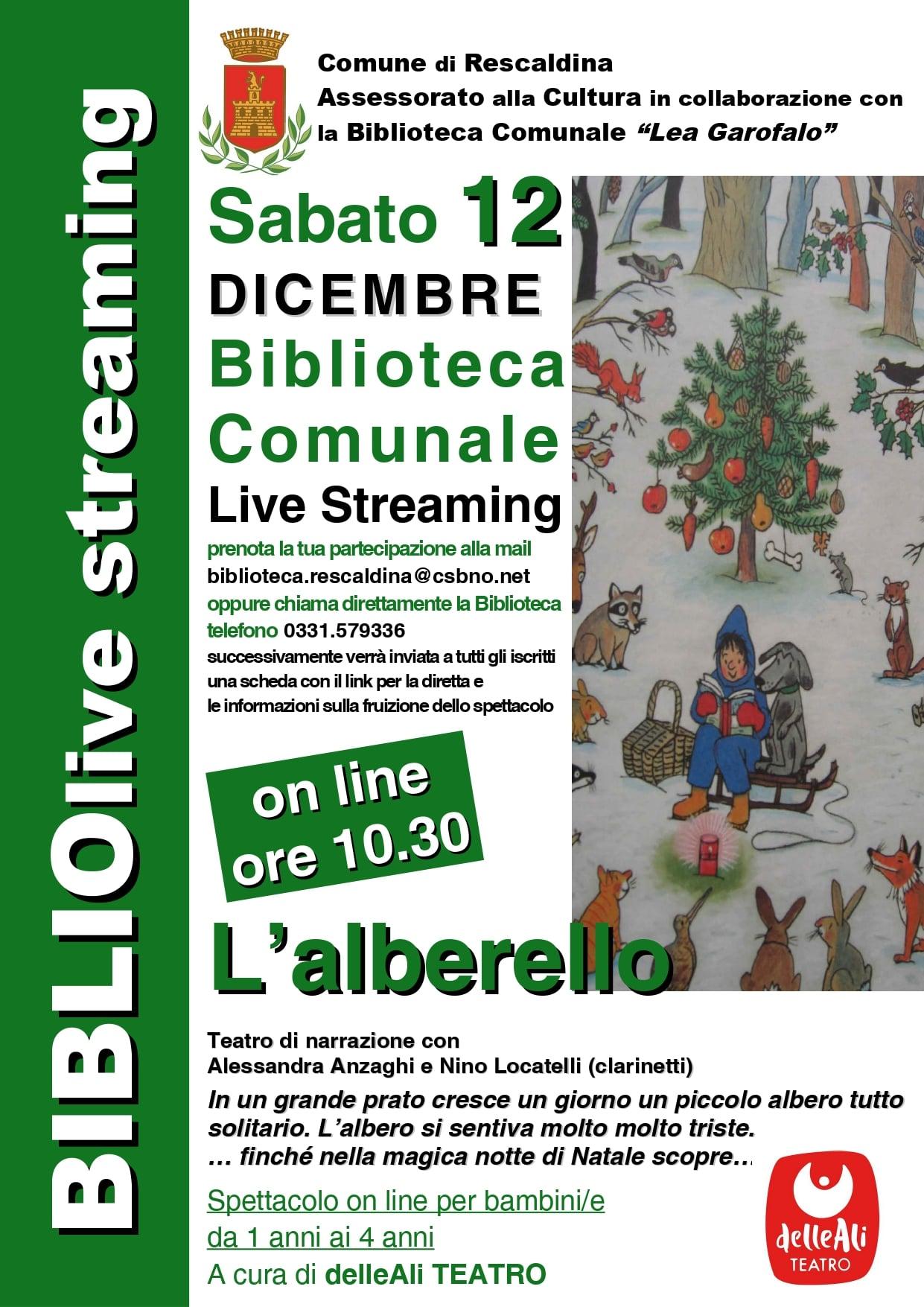 12 dicembre 2020 Letture animate con delleAli Teatro! Biblioteca di Rescaldina!!!