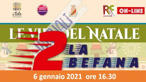 """VIE VIRTUALI DEL NATALE 2 """"LA BEFANA"""" Online con Facebook Live!"""